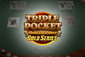 Triple Pocket Hold'em Poker Gold Logo